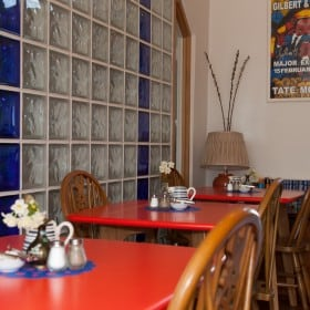 Tables in the breakfast room
