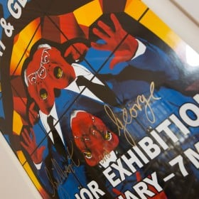 Gilbert & George signed print from Tate Modern exibition