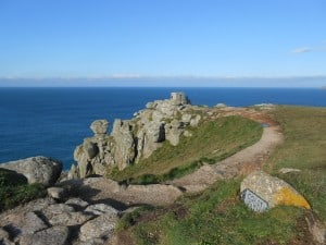 Between Land's End and Sennen on the South West Coast Path