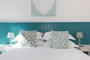 Ocean blues & greens in room 1