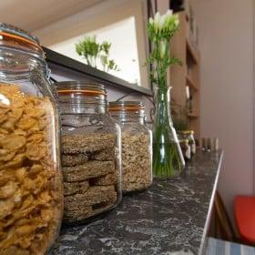 Cereals in the breakfast room
