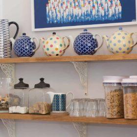 Breakfast room shelves